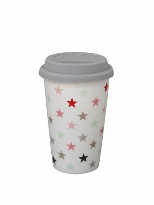 Travel mug, white multi