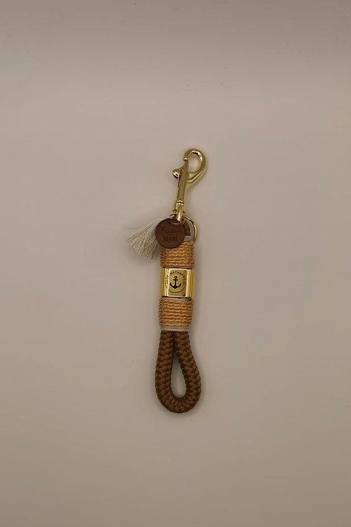 Schlüsselband, mini, Heimathafen gold