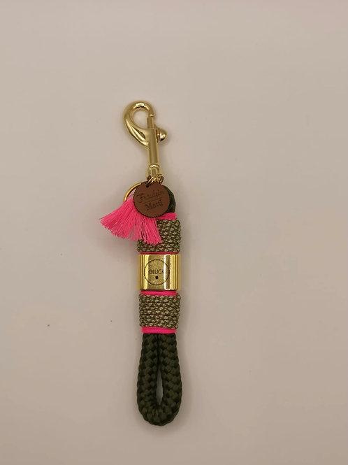 Schlüsselband, mini, Glück gold