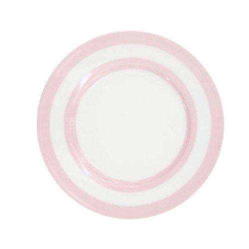Dessert Teller, Striped pink