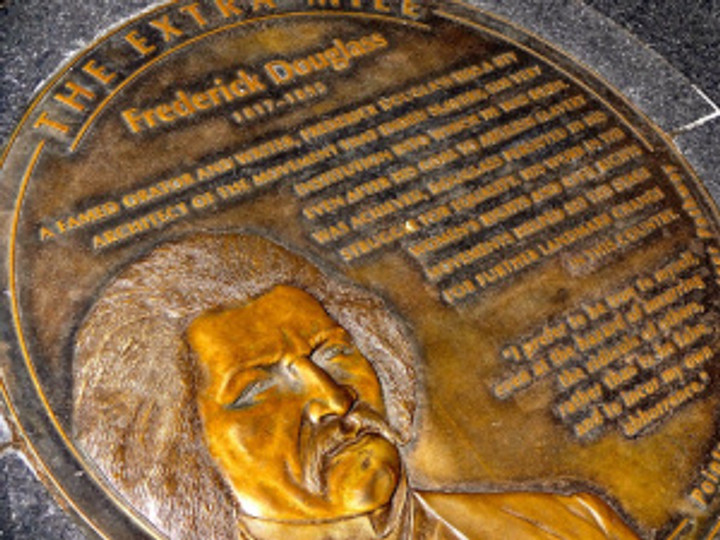 Why there is such a small tribute to Frederick Douglass, one you could so easily miss, is beyond me...