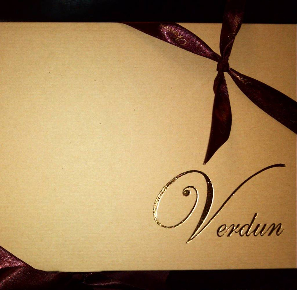 And as I was working in the yard clearing out blackberry vines and other debris, a delivery arrived - a box of Verdun chocolates from a happy candidate.  So nice!!