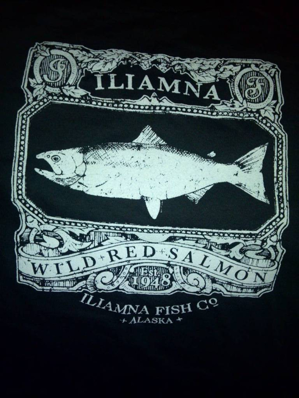 And the best part of each August is picking up my wild salmon share from the good folks of Iliamna Fish Co.  This year I got a shirt to celebrate :)