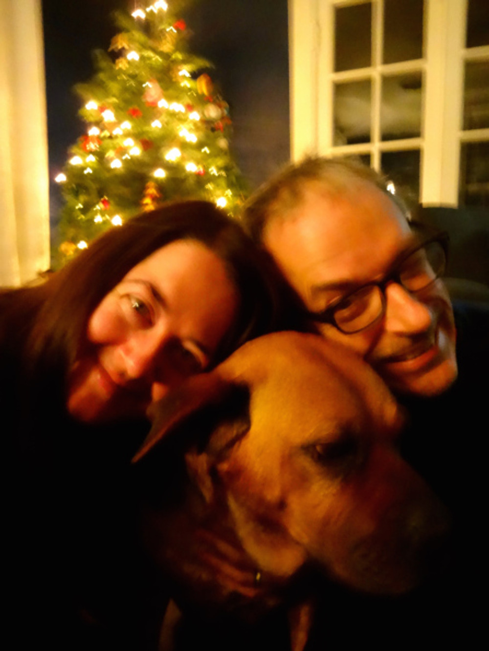 After dinner we made an attempt at a family selfie. Ruby of course didn't go for the multiple tries :)