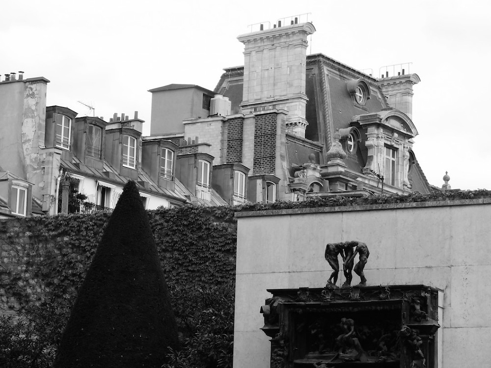 The shapes and walls and statues and rooftops at Rodin...one of my favorite places in Paris which, sadly, is STILL under renovation, meaning we couldn't see The Kiss...argh!