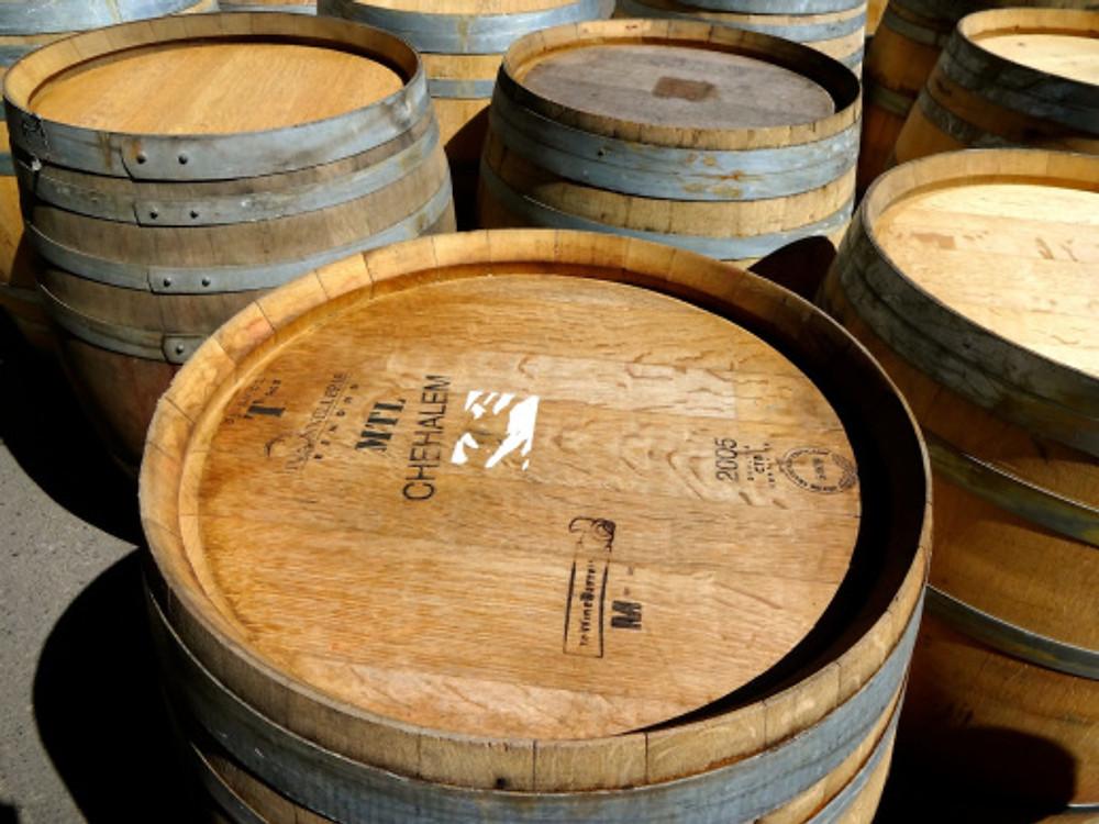 French oak barrels at Lady Hill Winery