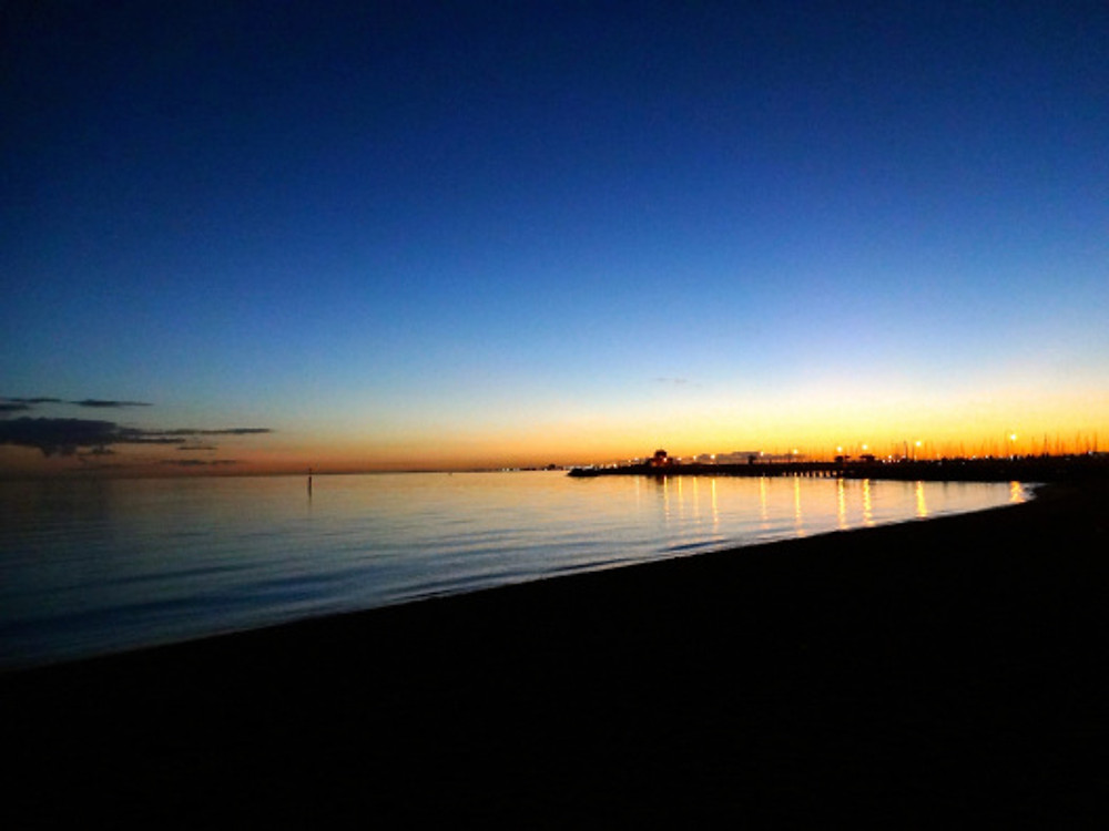 Sunset over Port Phillip Bay - Dan's last request to see before leaving town.
