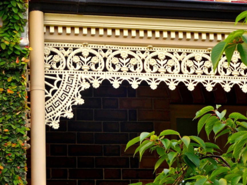 Great architectural detail on the cottages