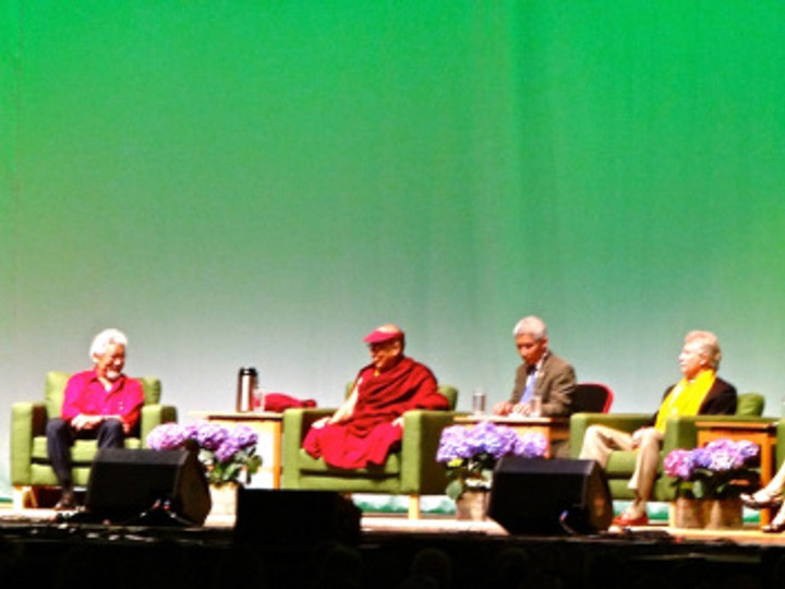The panel with the amazing David Suzuki, HHDL, our governor, and others was my favorite. I'm now completely starstruck by Suzuki.