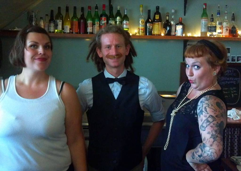 Super fun time at the Speakeasy Jamboree hosted by some of my favorite neighborhood folks at Woodlawn Coffee & Pastry. The gals there all looked especially gorgeous in their flapper-esque-ness, and the cocktails and snackums were especially tasty! This neighborhood rocks.