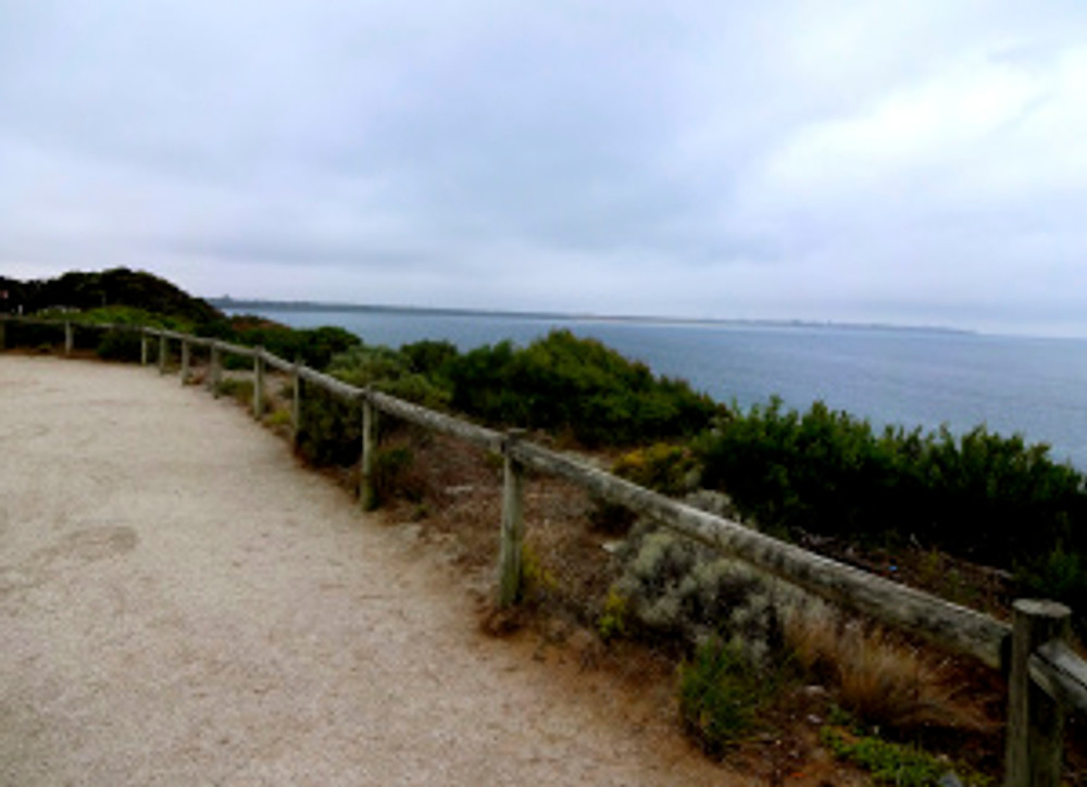 the overlook onto the Southern Ocean at Point Lonsdale