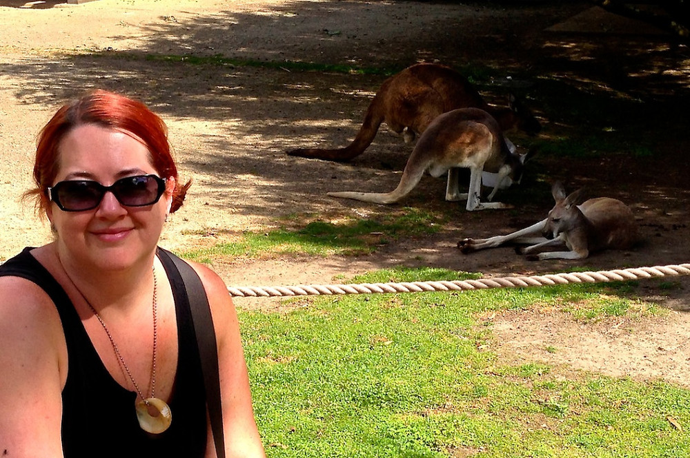 proof of me in front of a kangaroo.