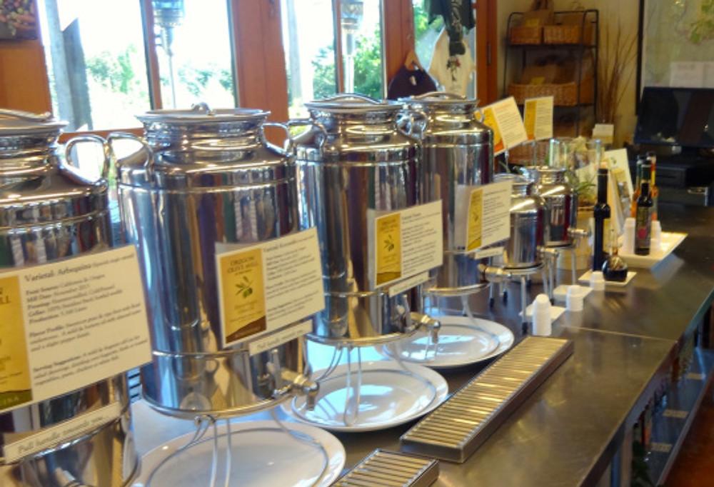 sampling olive oils and vinegars at Red Ridge Farms - yum!!
