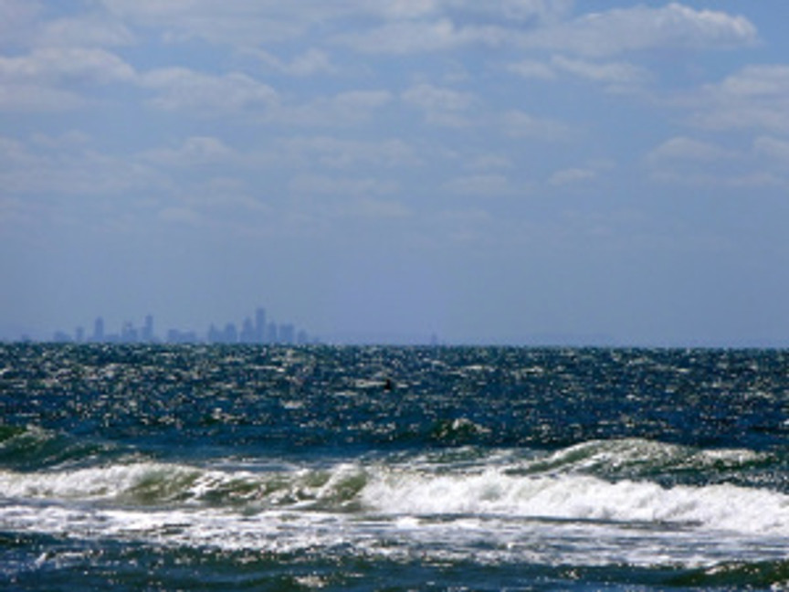 Melbourne across the bay...