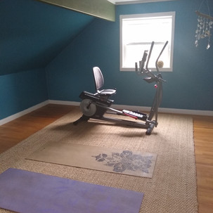 Before + After: Transforming an unused bedroom into an exercise/meditation space