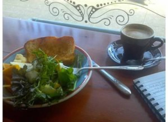 why re-take this photo every Sunday?  I sit in the window with my breakfast plate and cappuccino, do some writing, maybe a little reading, and get centered for the upcoming week.  Kinda awesome.