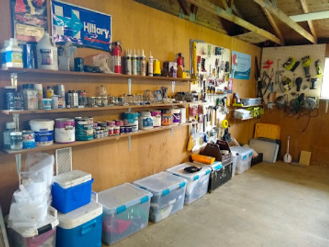 Organizing the garage…on the cheap