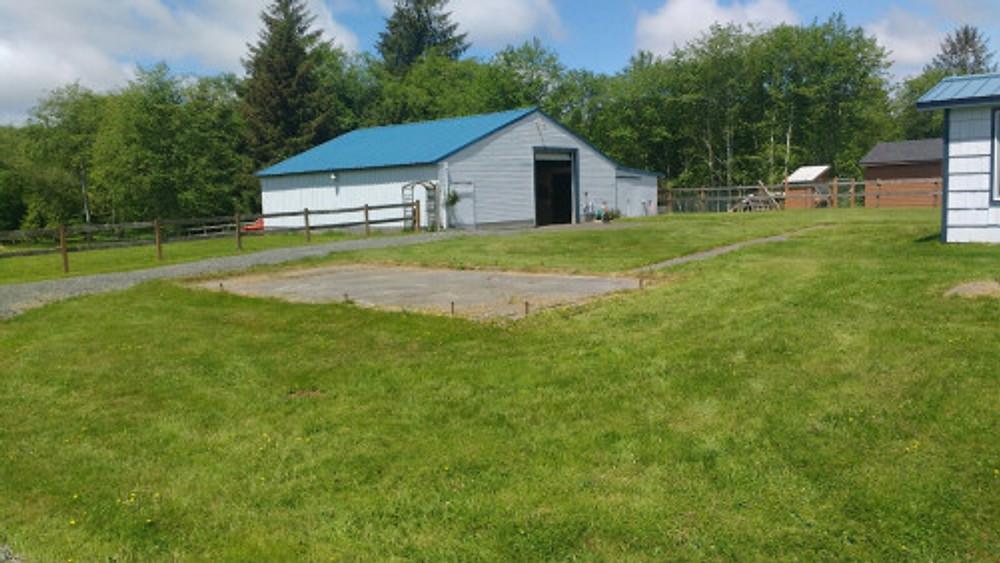 backyard + barn