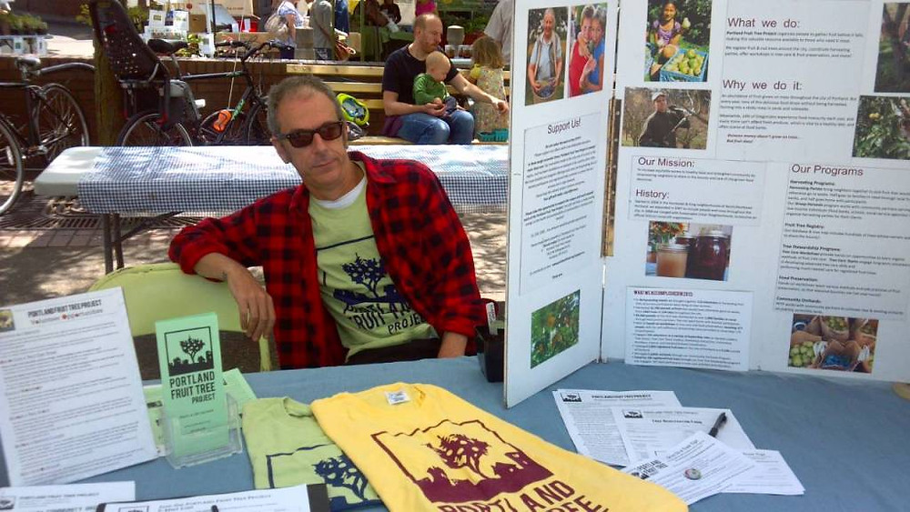 Saturday we donated a few hours of our time tabling for the super-rad Portland Fruit Tree Project, who I've been supporting for the past 5 years. Love that they donated over 30,000 lbs of fruit/nuts last year from local residents who open up their trees to harvest volunteers!