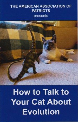 Then like kids on their own for the first time, we broke the rules and tore into our stockings on Christmas Eve rather than Christmas morning :). The first gift I got was this hilarious mock pamphlet, How to Talk to Your Cat about Evolution, which we'd been cracking up over when we were
