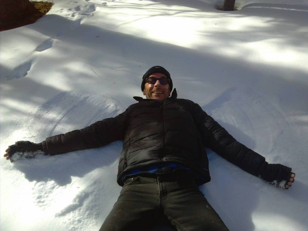 For the memory books - his first ever snow angel!  I nearly peed myself it was so funny and awesome to see him do that then plop down next to him and do one myself.