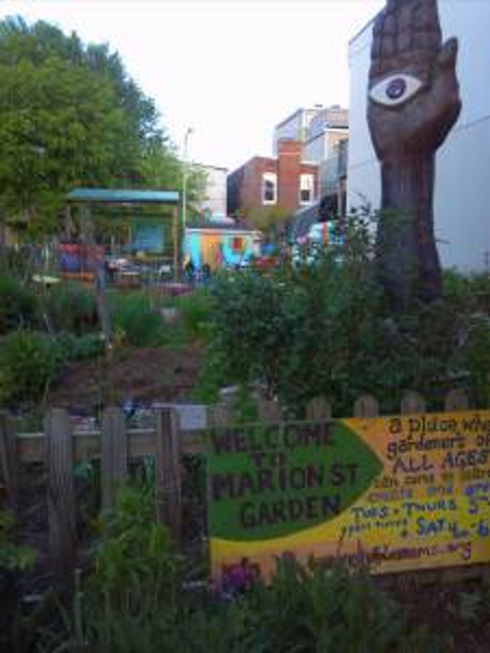 cool little community garden just a few houses down from my friend