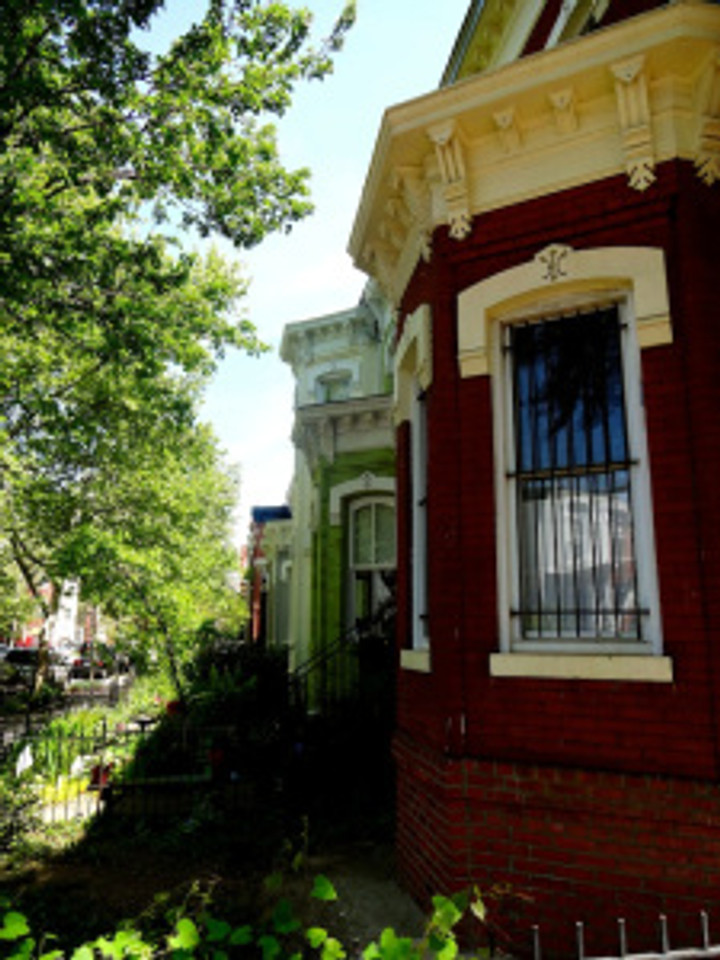 possibly a bit obsessed, but tree-lined streets and row houses make me smile :)