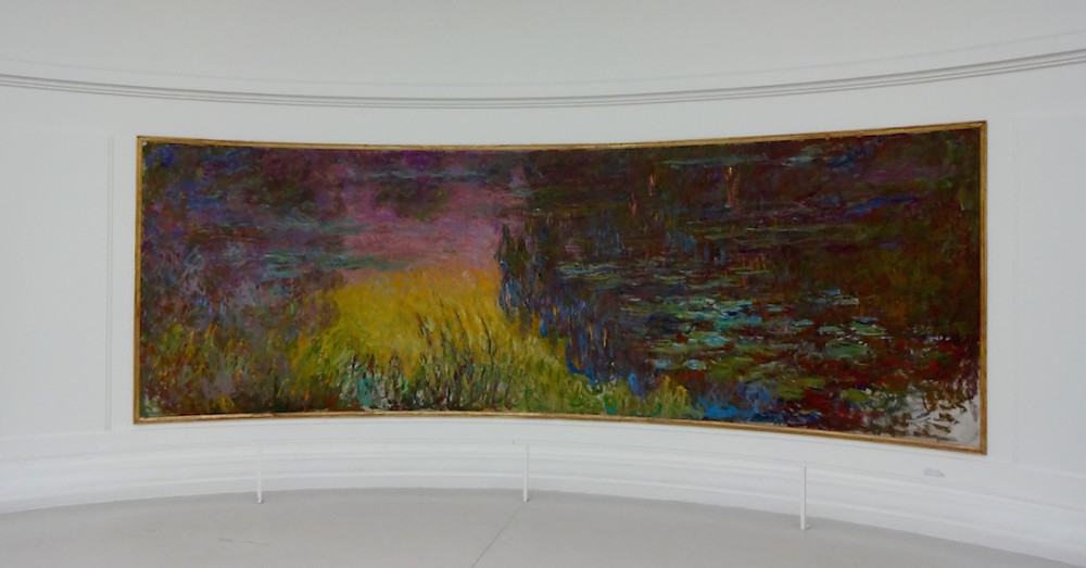 Loved seeing Monet water lilies paintings at L'Orangerie - a great preview of our trip to Giverny...