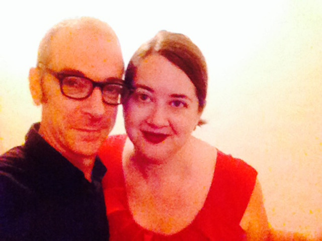 the selfie my sweetie and I took of us before our engagement party at Graze on Grey