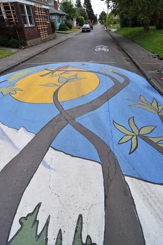 Intersection painting on NE Holman-16-16