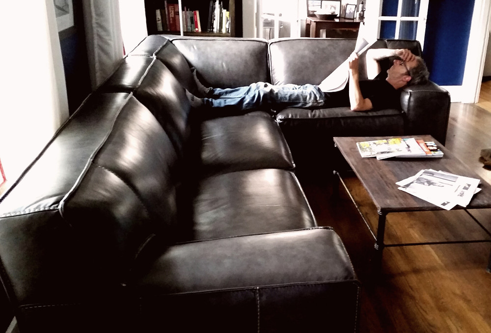After being really dissatisfied with our chaise sofa/chair set we'd bought from World Market (uncomfortable, funky fabric, and we actually disliked the chaise feature a LOT!), I sold it within one day of posting the ad to a nei