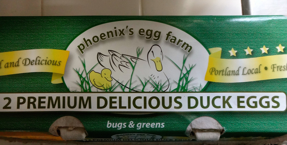 There were a lot of eggs involved, and I was psyched to see that NSM now carries Phoenix's Egg Farm duck eggs at a reasonable price. While we occasionally get duck eggs from our friends in the neighborhood in summer, this was a treat to have dozen in late November to enjoy!!