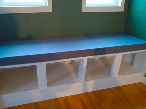 DIY Stairwell Window Seat