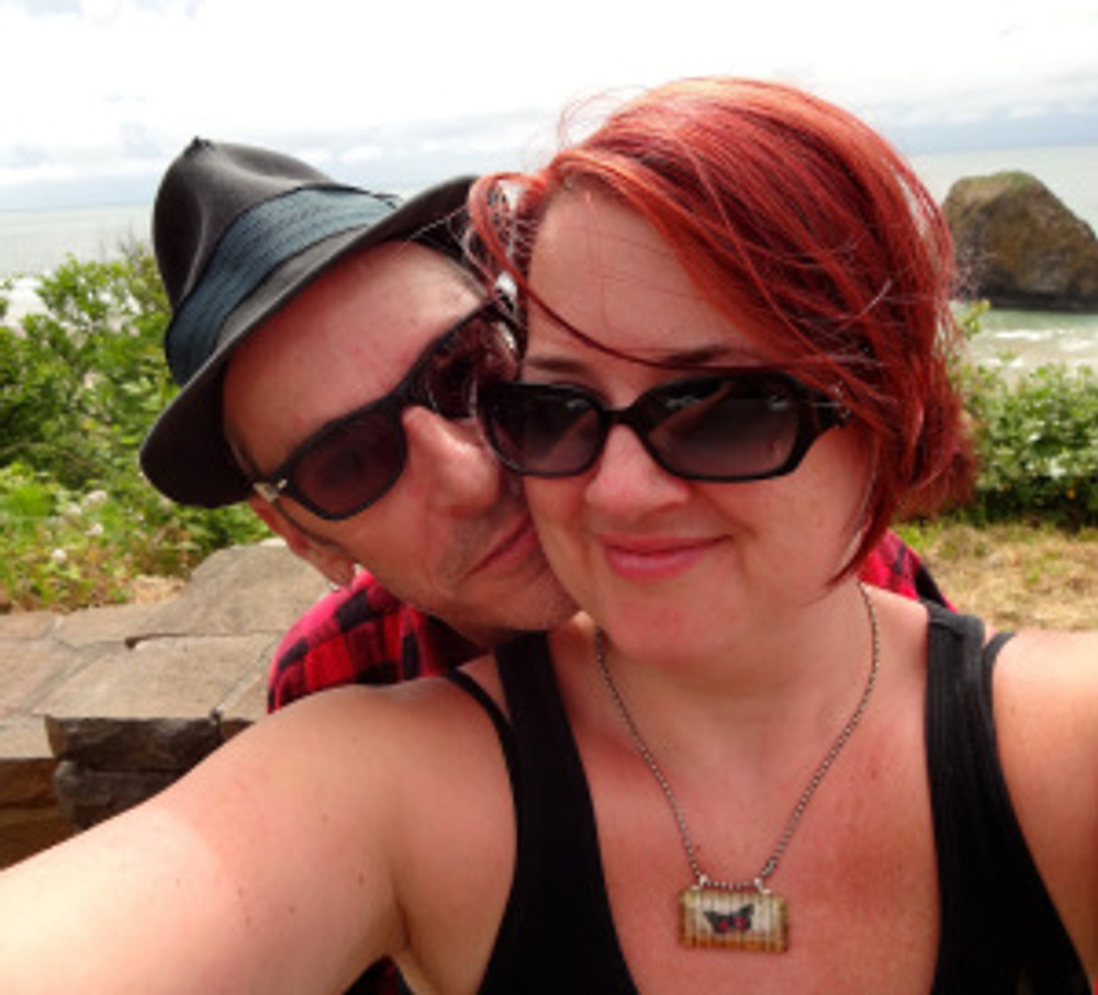 me n my honey at a roadside stop on our way to Manzanita