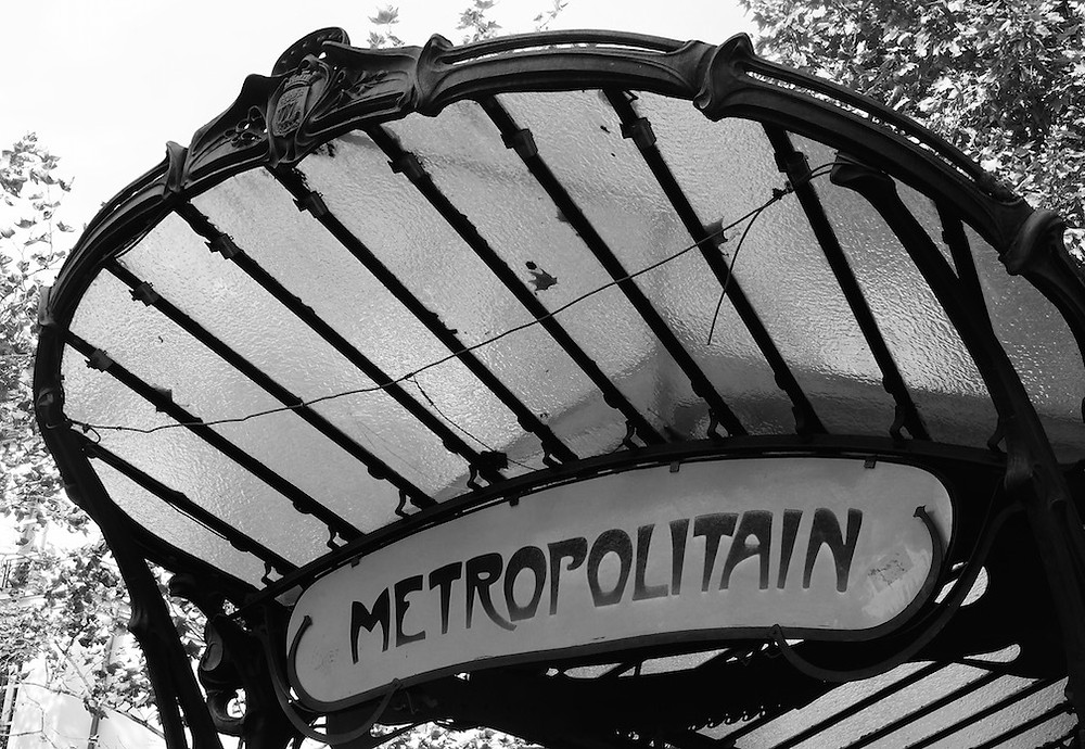 The Abbesses metro stop in Montmartre where we stayed during our last third of the trip is one of only 3 original glass signs left.  Pretty cool sign, pretty insane staircase going up...!