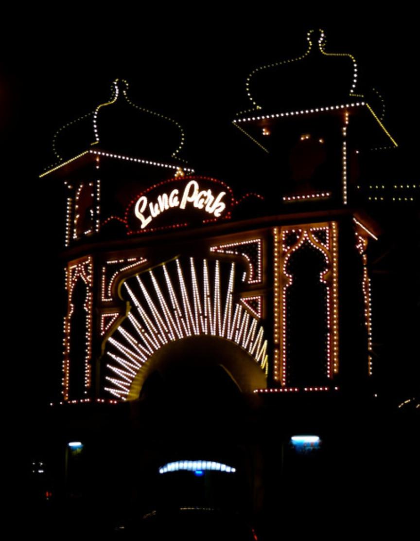 Luna Park at night.