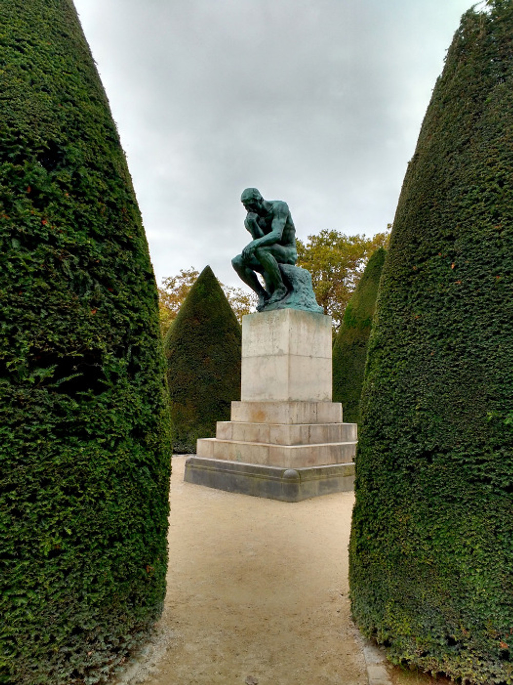 The Thinker, as captured by my husband in our time at Rodin. He loved the gardens here, as I'd predicted.