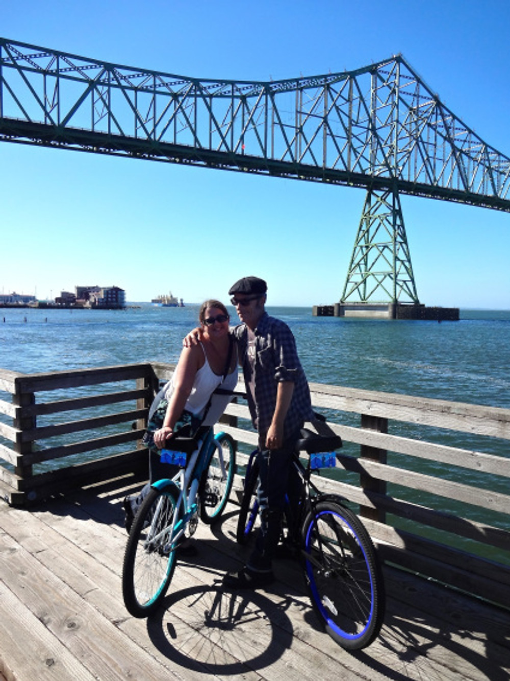 After going gaga over the room, we took advantage of the hotel's complimentary bicycles to take a ride along the water.