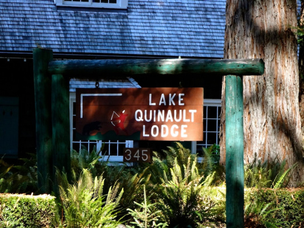 We booked a few days at Lake Quinault Lodge, right on the lake with a great private view, fireplace (not that we needed it - it was great weather!), and hiking trails nearby.