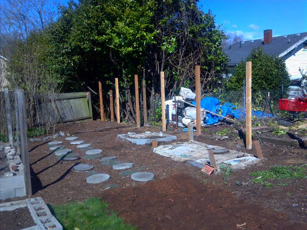 A weekend without a fence is quite a trip! You see wayyyy more of your neighbor's back yard than you ever wish, but as I write this, the posts are going up and a much sturdier, awesome fence will be in its place shortly!