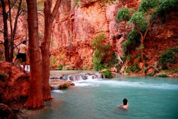 and hitting the hay dreaming about the picture of Havasu Falls in Arizona and the accompanying article in the New York Times, Seeking Solitude (With a Guide)