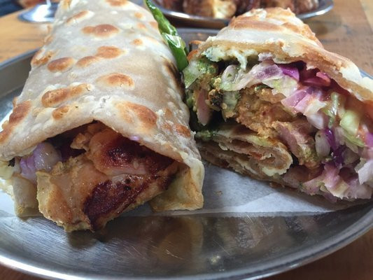 Finished out the weekend with kati rolls at Bollywood Theater on Alberta. YUM! I have officially fallen in love with Indian street food! (image source)