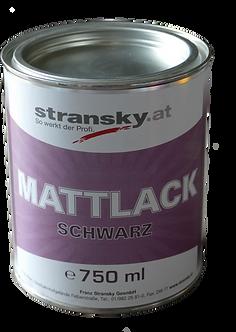Stransky Mattlack schwarz 750 ml