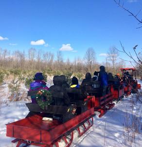 Sleigh ride at RiverOak