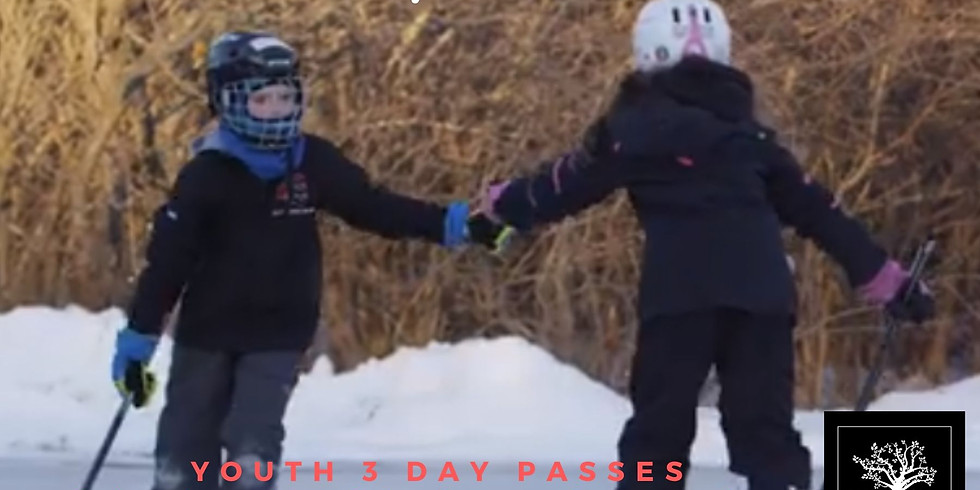 Youth 3 Day Passes $20+HST