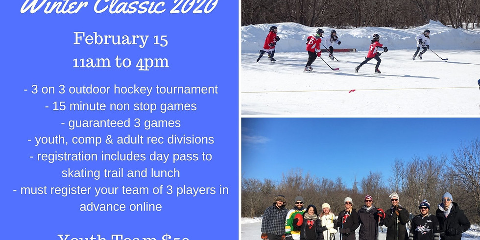Winter Classic Youth Under 15 $50+HST