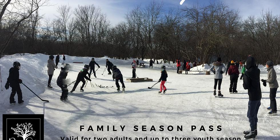 Family Season Pass $140+HST