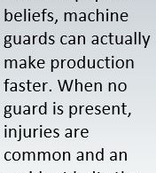 Never Tamper with Machine Guards