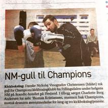 NM-gull til Champions kickboxingklubb