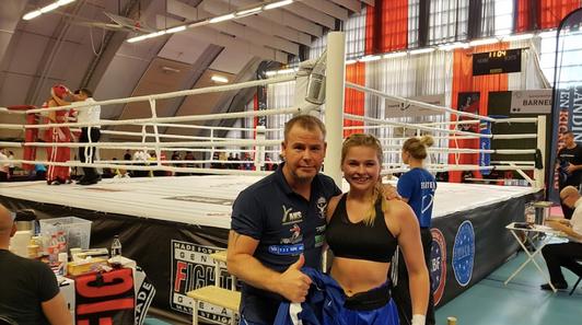 Charlotte Berg Andersen og Thomas Kristiansen etter seir i semifinalen